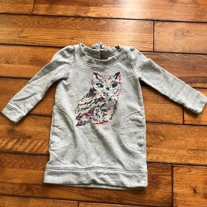 Gymboree grey sweatshirt owl dress size 4